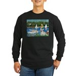 Sailboats / Fr Bulldog(f) Long Sleeve Dark T-Shirt