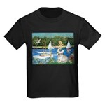 Sailboats / Fr Bulldog(f) Kids Dark T-Shirt