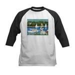 Sailboats / Fr Bulldog(f) Kids Baseball Jersey
