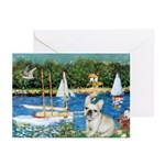 Sailboats / Fr Bulldog(f) Greeting Cards (Pk of 10