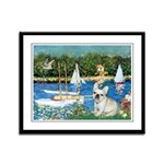 Sailboats / Fr Bulldog(f) Framed Panel Print