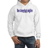 """I am not American"" Turkish & English Jumper Hoody"