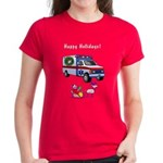 EMS Happy Holidays Greetings Women's Dark T-Shirt