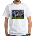 Starry / Fr Bulldog(brin) White T-Shirt