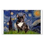 Starry / Fr Bulldog(brin) Sticker (Rectangle)