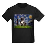 Starry / Fr Bulldog(brin) Kids Dark T-Shirt