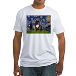 Starry / Fr Bulldog(brin) Fitted T-Shirt