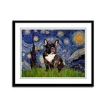 Starry / Fr Bulldog(brin) Framed Panel Print