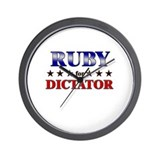 RUBY for dictator Wall Clock