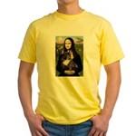 Mona / Fr Bulldog(brin) Yellow T-Shirt