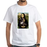 Mona / Fr Bulldog(brin) White T-Shirt