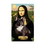 Mona / Fr Bulldog(brin) Sticker (Rectangle)