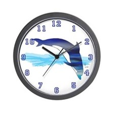 Dolphin in Water Wall Clock