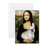 Mona / Fr Bulldog (f) Greeting Cards (Pk of 20)