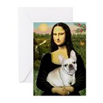 Mona / Fr Bulldog (f) Greeting Cards (Pk of 10)