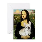 Mona / Fr Bulldog (f) Greeting Card
