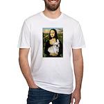 Mona / Fr Bulldog (f) Fitted T-Shirt