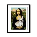 Mona / Fr Bulldog (f) Framed Panel Print