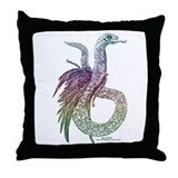 Feathered Serpent: Colour Throw Pillow