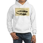 Two '53 Studebakers on Hooded Sweatshirt