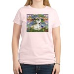 Lilies / Fr Bulldog (f) Women's Light T-Shirt