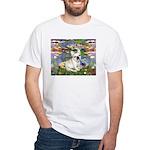Lilies / Fr Bulldog (f) White T-Shirt