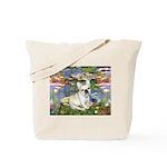 Lilies / Fr Bulldog (f) Tote Bag