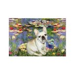 Lilies / Fr Bulldog (f) Rectangle Magnet (10 pack)