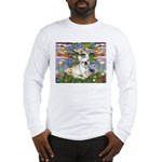 Lilies / Fr Bulldog (f) Long Sleeve T-Shirt