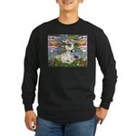Lilies / Fr Bulldog (f) Long Sleeve Dark T-Shirt