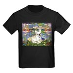Lilies / Fr Bulldog (f) Kids Dark T-Shirt