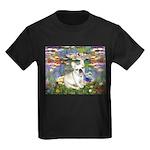 Lilies / Fr Bulldog (f) Kids Dark T-Shirt