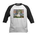 Lilies / Fr Bulldog (f) Kids Baseball Jersey