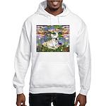 Lilies / Fr Bulldog (f) Hooded Sweatshirt