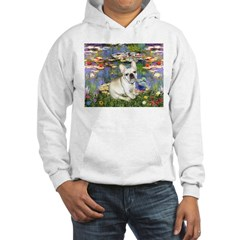 Lilies / Fr Bulldog (f) Hooded Sweatshirt