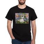 Lilies / Fr Bulldog (f) Dark T-Shirt