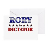 RORY for dictator Greeting Cards (Pk of 20)