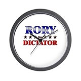 RORY for dictator Wall Clock