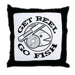 Get Reel Go Fish Throw Pillow