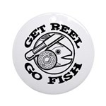 Get Reel Go Fish Ornament (Round)