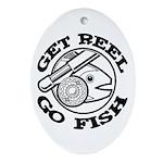 Get Reel Go Fish Oval Ornament