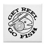 Get Reel Go Fish Tile Coaster