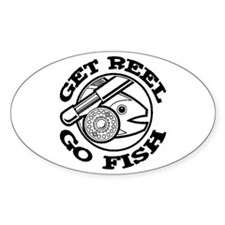 Get Reel Go Fish Oval Decal