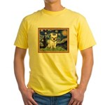 Starry/French Bulldog Yellow T-Shirt