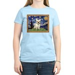 Starry/French Bulldog Women's Light T-Shirt