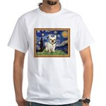 Starry/French Bulldog White T-Shirt