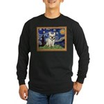 Starry/French Bulldog Long Sleeve Dark T-Shirt