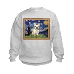 Starry/French Bulldog Kids Sweatshirt