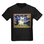 Starry/French Bulldog Kids Dark T-Shirt