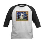 Starry/French Bulldog Kids Baseball Jersey